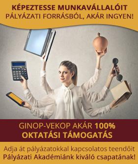 GINOP-VEKOP AKÁR 100% OKTATÁSI TÁMOGATÁS